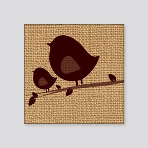 """Birds painting on canvas Square Sticker 3"""" x 3"""""""