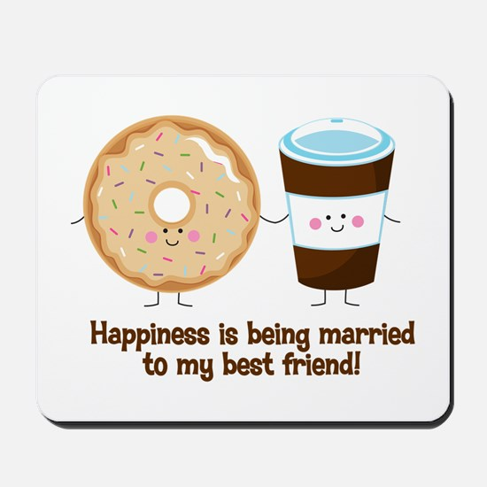 Coffee and Donut Married BF Mousepad