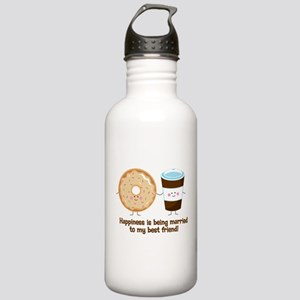 Coffee and Donut Married BF Stainless Water Bottle