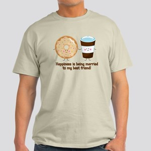Coffee and Donut Married BF Light T-Shirt