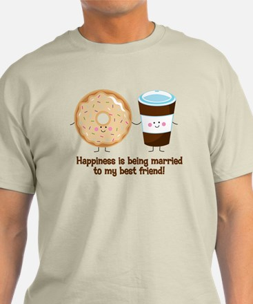 Coffee and Donut Married BF T-Shirt