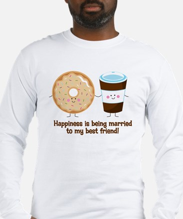 Coffee and Donut Married BF Long Sleeve T-Shirt