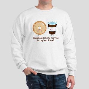 Coffee and Donut Married BF Sweatshirt