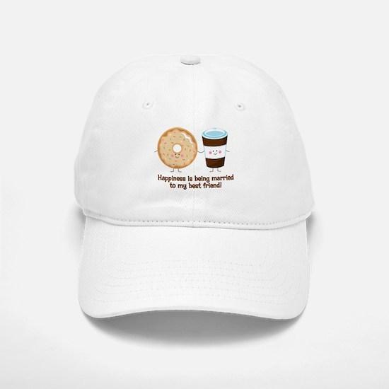 Coffee and Donut Married BF Baseball Baseball Cap