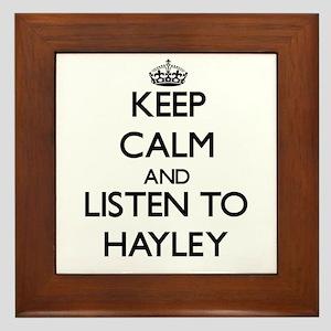 Keep Calm and listen to Hayley Framed Tile