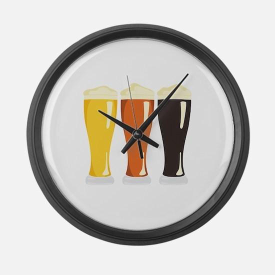 Beer Variety Large Wall Clock
