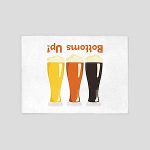 Bottoms Up! Beer 5'x7'Area Rug