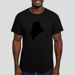 Black Men's Fitted T-Shirt (dark)