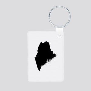 Black Aluminum Photo Keychain