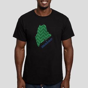 Chevron Maine Men's Fitted T-Shirt (dark)