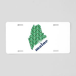 Chevron Maine Aluminum License Plate
