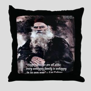 Leo Tolstoy Anna Karenina Throw Pillow
