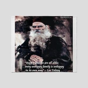 Leo Tolstoy Anna Karenina Throw Blanket