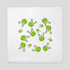 Frog Green Queen Duvet