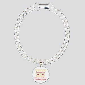 Personalize Transplant Donor Thank You Charm Brace