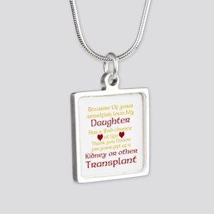 Personalize Transplant Donor Thank You Silver Squa