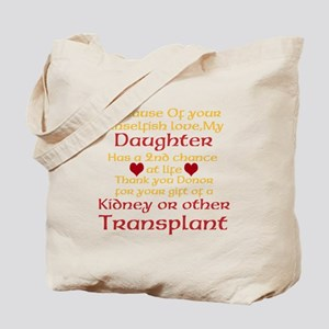 Personalize Transplant Donor Thank You Tote Bag