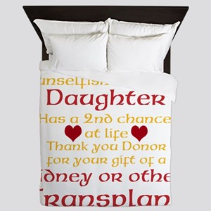 Personalize Transplant Donor Thank You Queen Duvet