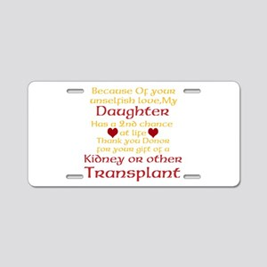 Personalize Transplant Donor Thank You Aluminum Li