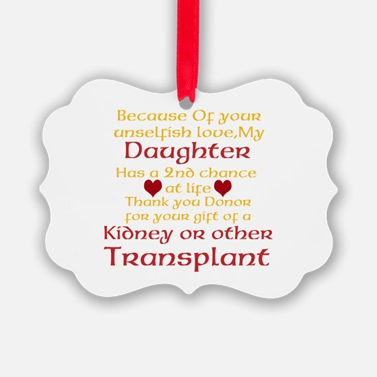 Personalize Transplant Donor Thank You Ornament