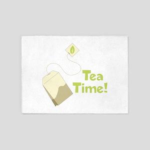 Tea Time Bag 5'x7'Area Rug