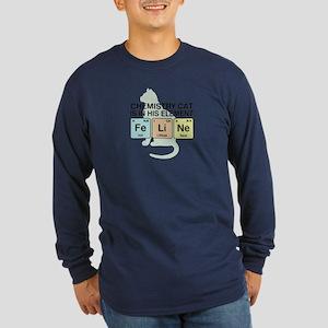 Chemistry Cat Long Sleeve Dark T-Shirt