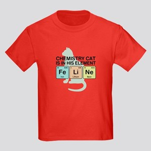 Chemistry Cat Kids Dark T-Shirt