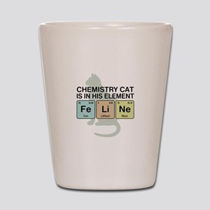 Chemistry Cat Shot Glass
