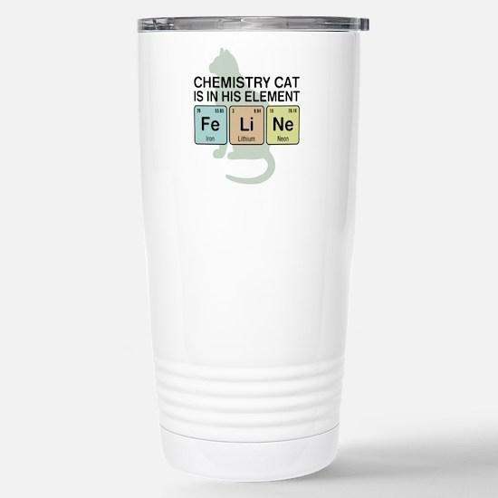 Chemistry Cat Stainless Steel Travel Mug
