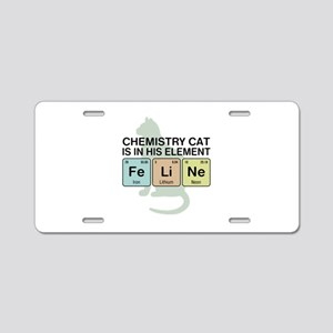Chemistry Cat Aluminum License Plate