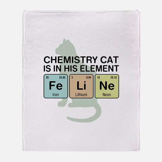 Chemistry Cat Throw Blanket