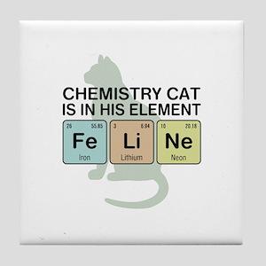 Chemistry Cat Tile Coaster