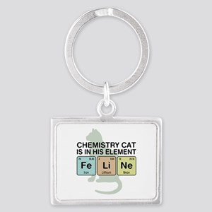 Chemistry Cat Landscape Keychain