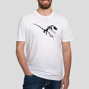Velociraptor Skeleton Fitted T-Shirt
