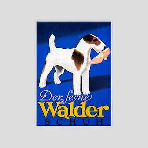 Dog, Shoe, German, Vintage Poster 5'X7'area Rug