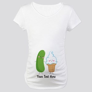 Personalized Pickle and Ice Cream Maternity T-Shir