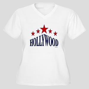 Hollywood Women's Plus Size V-Neck T-Shirt