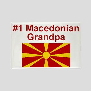 #1 Macedonian Grandpa Rectangle Magnet
