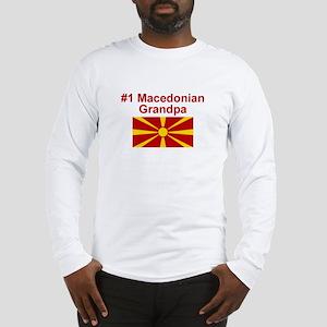 #1 Macedonian Grandpa Long Sleeve T-Shirt