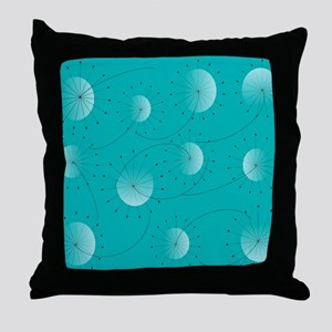 Dandelion Clocks Throw Pillow