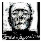 Zombie Apocalypse Square Car Magnet 3