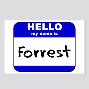 hello my name is forrest  Postcards (Package of 8)