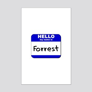 hello my name is forrest  Mini Poster Print