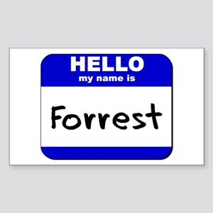 hello my name is forrest Rectangle Sticker