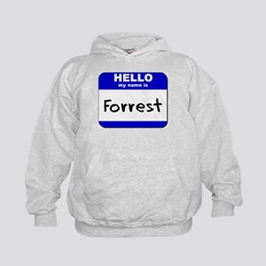 hello my name is forrest Kids Hoodie