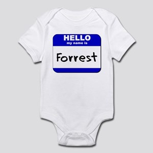 hello my name is forrest  Infant Bodysuit