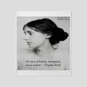 Virginia Woolf On Writing Throw Blanket