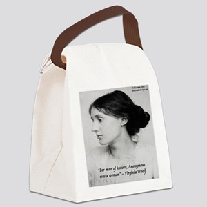 Virginia Woolf On Writing Canvas Lunch Bag