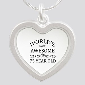 World's Most Awesome 75 Year Old Silver Heart Neck