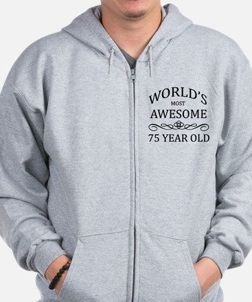 World's Most Awesome 75 Year Old Zip Hoodie